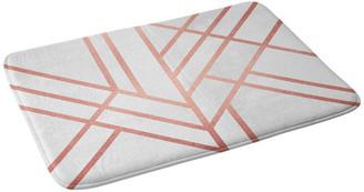 "Deny Designs Elisabeth Fredriksson Art Deco Rose Gold Memory Foam Bath Mat, 24""x36"""