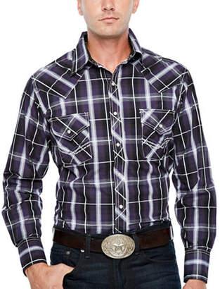 Ely Cattleman Long Sleeve Plaid Snap Western Shirt