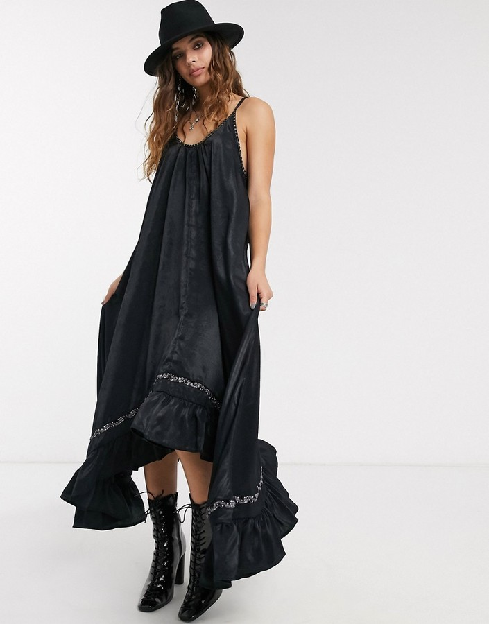 Free People amor maxi slip dress