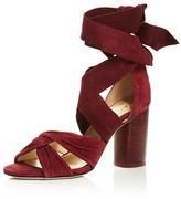 Raye Myra Suede Crisscross High Heel Sandals