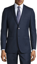 DKNY Two-Piece Slim-Fit Suit, Blue Pattern