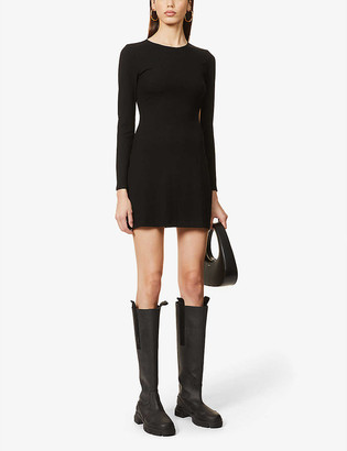 Reformation Kensy cut-out stretch-jersey mini dress