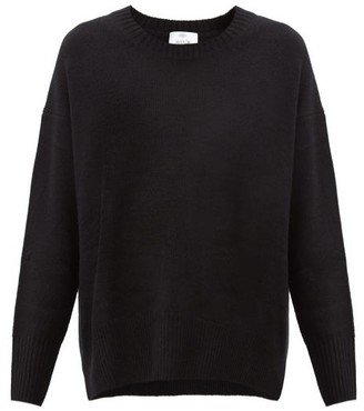 Allude Dropped-sleeve Cashmere Sweater - Black
