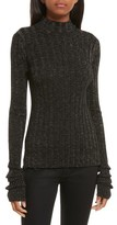 Theory Women's Wide Ribbed Metallic Merino Wool Sweater