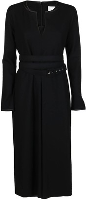 Jil Sander Belted Midi Dress