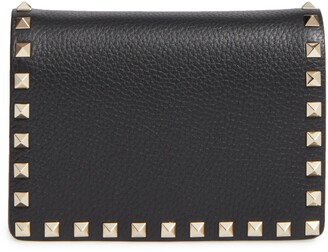 Valentino Rockstud Leather Wallet on a Chain