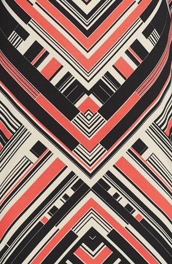 Vince Camuto Print Ponte Shift Dress
