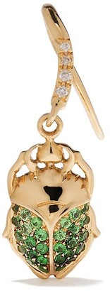 Aurélie Bidermann 18kt Yellow Gold Diamonds Single Beetle Earring
