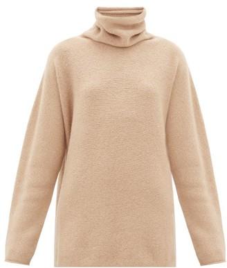 LAUREN MANOOGIAN Horizontal Cowl-neck Baby-alpaca Sweater - Womens - Beige