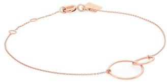 ginette_ny 18K Rose Gold Tiny Fusion Link Pendant Bracelet
