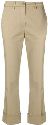 Fay Cropped Mid-Rise Trousers