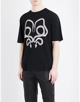 Saint Laurent Snake Graphic Cotton-jersey T-shirt