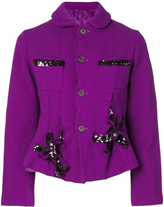 Comme des Garcons Pre-Owned boiled effect jacket with sequins