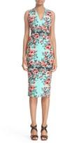 Fuzzi Women's Floral Scuba Sheath Dress