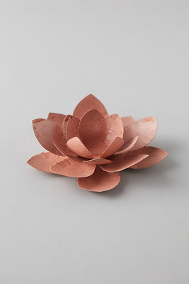 Anthropologie Iron Flower Votive By in Pink Size ALL