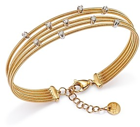 Marco Bicego 18K Yellow Gold Diamond Scattered Multi Row Bracelet - 100% Exclusive