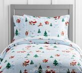 Pottery Barn Kids Rudolph(R) And Bumble(R) Flannel Duvet Cover