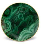 L'OBJET Malachite Canape Plates/Set of 4