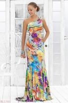 Blush Lingerie One Shoulder Floral Printed Long Dress 9303
