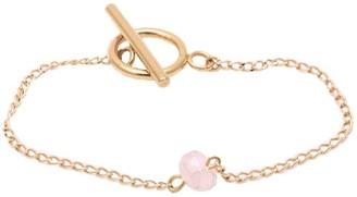 Salome Bridal Collection Rose Quartz Gemstone Bracelet