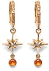 Marlo Laz Lucky Star Diamond & Sapphire Earrings