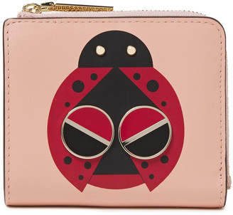 Kate Spade Lucky Ladybug Embellished Printed Leather Wallet