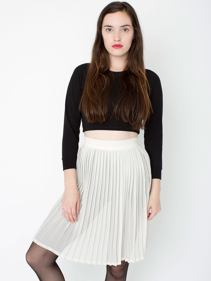 American Apparel Chiffon Pleated Skirt