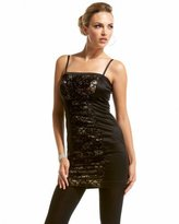 Lace Inset Overlay Dress