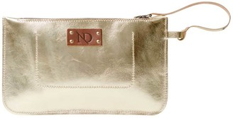 N'damus London Eloise Clutch Leather Gold Bag