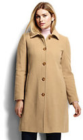 Classic Women's Plus Size Luxe Wool Car Coat-Rich Red