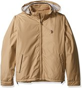 U.S. Polo Assn. Men's Mock-Neck Polar Fleece Lined Jacket with Polyurethane Piping