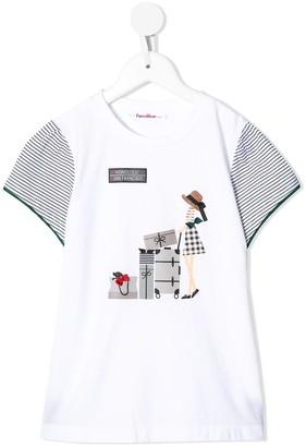 Familiar luggage print T-shirt