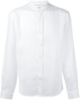 Brunello Cucinelli Mandarin-Neck Buttoned Shirt
