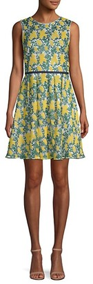 Draper James Embroidered Fit--Flare Dress