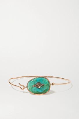 Pascale Monvoisin Garance N2 9-karat Rose Gold, Turquoise And Diamond Bracelet - one size