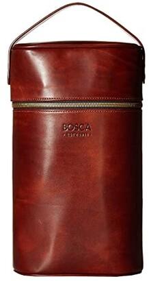 Bosca Dolce Double Wine Carrier (Amber) Wallet