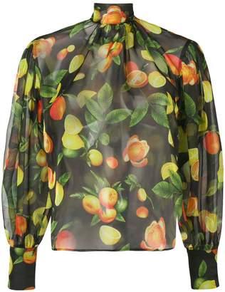 MSGM fruit print blouse