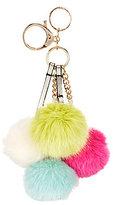Kate Landry Quad Faux-Fur Pom Pom Bag Charm