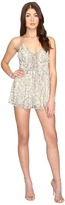 Brigitte Bailey Luna Child Foil Print Lace-Up Romper