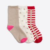 J.Crew Factory Girls' holiday stars socks three-pack