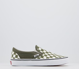 Vans Classic Slip Ons Trainers Checkerboard Grape Leaf True White