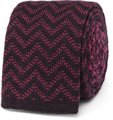 Etro - Reversible Jacquard-knit Wool Tie