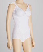 Naturana White Moderate Compression Shaper Bodysuit - Plus Too