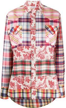 Pierre Louis Mascia Mixed Plaid Shirt
