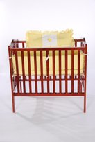 Baby Doll Bedding Gingham with Elephant Applique Port-a-Crib Bedding Set