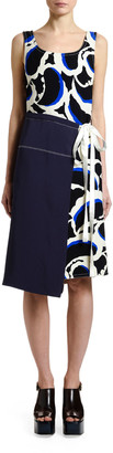 Marni Sleeveless Teardrop-Print Dress