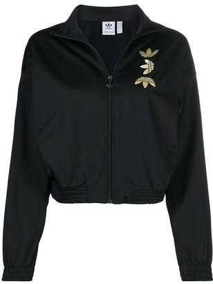 adidas metallic logo print sport jacket