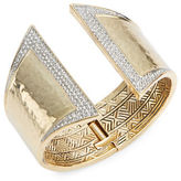 House Of Harlow 1960 Crystal Pave Hinge Bracelet