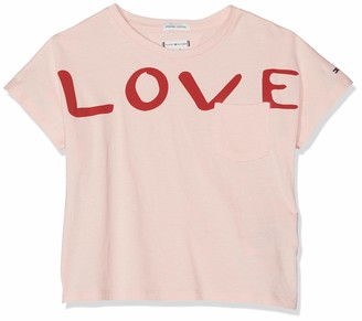 Tommy Hilfiger Girl's Bold Text Grown On S/s Tee T-Shirt