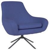 Heal's Clifton Swivel Armchair - Felt Melange Dark Blue